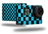 Checkers Blue - Decal Style Skin fits GoPro Hero 4 Black Camera (GOPRO SOLD SEPARATELY)