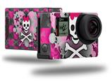 Princess Skull Heart - Decal Style Skin fits GoPro Hero 4 Black Camera (GOPRO SOLD SEPARATELY)