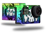 Cartoon Skull Rainbow - Decal Style Skin fits GoPro Hero 4 Black Camera (GOPRO SOLD SEPARATELY)