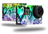 Scene Kid Sketches Rainbow - Decal Style Skin fits GoPro Hero 4 Black Camera (GOPRO SOLD SEPARATELY)