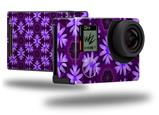 Abstract Floral Purple - Decal Style Skin fits GoPro Hero 4 Black Camera (GOPRO SOLD SEPARATELY)