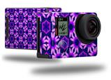 Daisies Purple - Decal Style Skin fits GoPro Hero 4 Black Camera (GOPRO SOLD SEPARATELY)