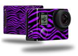Purple Zebra - Decal Style Skin fits GoPro Hero 4 Black Camera (GOPRO SOLD SEPARATELY)