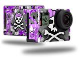 Purple Princess Skull - Decal Style Skin fits GoPro Hero 4 Black Camera (GOPRO SOLD SEPARATELY)