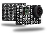 Skull and Crossbones Pattern - Decal Style Skin fits GoPro Hero 4 Black Camera (GOPRO SOLD SEPARATELY)
