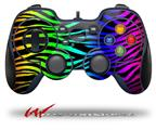 Rainbow Zebra - Decal Style Skin fits Logitech F310 Gamepad Controller (CONTROLLER SOLD SEPARATELY)