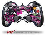 Splatter Girly Skull - Decal Style Skin fits Logitech F310 Gamepad Controller (CONTROLLER SOLD SEPARATELY)