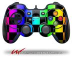 Rainbow Checkerboard - Decal Style Skin fits Logitech F310 Gamepad Controller (CONTROLLER SOLD SEPARATELY)