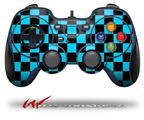 Checkers Blue - Decal Style Skin fits Logitech F310 Gamepad Controller (CONTROLLER SOLD SEPARATELY)