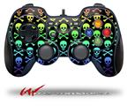 Skull and Crossbones Rainbow - Decal Style Skin fits Logitech F310 Gamepad Controller (CONTROLLER SOLD SEPARATELY)