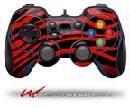 Zebra Red - Decal Style Skin fits Logitech F310 Gamepad Controller (CONTROLLER SOLD SEPARATELY)
