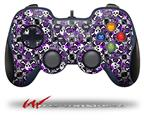 Splatter Girly Skull Purple - Decal Style Skin fits Logitech F310 Gamepad Controller (CONTROLLER SOLD SEPARATELY)