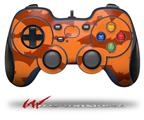 Deathrock Bats Orange - Decal Style Skin fits Logitech F310 Gamepad Controller (CONTROLLER SOLD SEPARATELY)