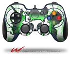 Cartoon Skull Green - Decal Style Skin fits Logitech F310 Gamepad Controller (CONTROLLER SOLD SEPARATELY)