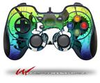 Cartoon Skull Rainbow - Decal Style Skin fits Logitech F310 Gamepad Controller (CONTROLLER SOLD SEPARATELY)