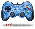 Skull Sketches Blue - Decal Style Skin fits Logitech F310 Gamepad Controller (CONTROLLER SOLD SEPARATELY)