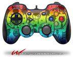 Cute Rainbow Monsters - Decal Style Skin fits Logitech F310 Gamepad Controller (CONTROLLER SOLD SEPARATELY)