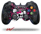 Girly Skull Bones - Decal Style Skin fits Logitech F310 Gamepad Controller (CONTROLLER SOLD SEPARATELY)