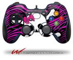 Pink Zebra Skull - Decal Style Skin fits Logitech F310 Gamepad Controller (CONTROLLER SOLD SEPARATELY)
