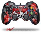 Emo Skull Bones - Decal Style Skin fits Logitech F310 Gamepad Controller (CONTROLLER SOLD SEPARATELY)