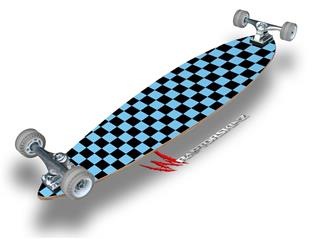 Checkers Blue - Decal Style Vinyl Wrap Skin fits Longboard Skateboards up to 10