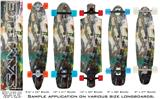 Rainbow Grunge Graffiti - Decal Style Vinyl Wrap Skin fits Longboard Skateboards up to 10