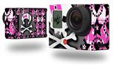 Pink Bow Skull - Decal Style Skin fits GoPro Hero 3+ Camera (GOPRO NOT INCLUDED)