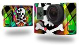 Rainbow Plaid Skull - Decal Style Skin fits GoPro Hero 3+ Camera (GOPRO NOT INCLUDED)