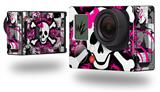 Splatter Girly Skull - Decal Style Skin fits GoPro Hero 3+ Camera (GOPRO NOT INCLUDED)