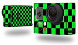 Checkers Green - Decal Style Skin fits GoPro Hero 3+ Camera (GOPRO NOT INCLUDED)
