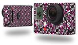 Splatter Girly Skull Pink - Decal Style Skin fits GoPro Hero 3+ Camera (GOPRO NOT INCLUDED)