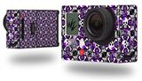 Splatter Girly Skull Purple - Decal Style Skin fits GoPro Hero 3+ Camera (GOPRO NOT INCLUDED)