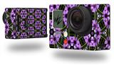 Floral Pattern Purple - Decal Style Skin fits GoPro Hero 3+ Camera (GOPRO NOT INCLUDED)