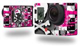 Girly Pink Bow Skull - Decal Style Skin fits GoPro Hero 3+ Camera (GOPRO NOT INCLUDED)