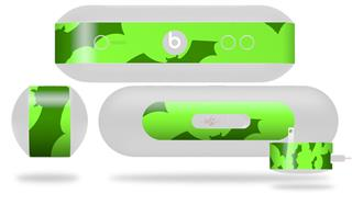 Decal Style Wrap Skin fits Beats Pill Plus Deathrock Bats Green (BEATS PILL NOT INCLUDED)