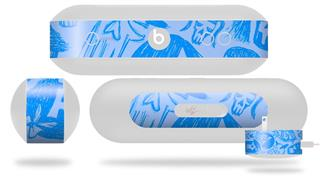 Decal Style Wrap Skin fits Beats Pill Plus Skull Sketches Blue (BEATS PILL NOT INCLUDED)