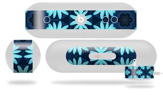 Decal Style Wrap Skin fits Beats Pill Plus Abstract Floral Blue (BEATS PILL NOT INCLUDED)