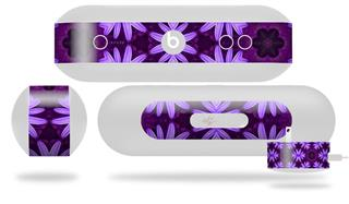 Decal Style Wrap Skin fits Beats Pill Plus Abstract Floral Purple (BEATS PILL NOT INCLUDED)