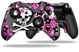 Pink Bow Skull - Decal Style Skin fits Microsoft XBOX One ELITE Wireless Controller