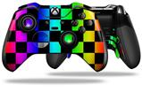 Rainbow Checkerboard - Decal Style Skin fits Microsoft XBOX One ELITE Wireless Controller