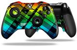 Rainbow Plaid - Decal Style Skin fits Microsoft XBOX One ELITE Wireless Controller