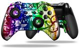 Rainbow Graffiti - Decal Style Skin fits Microsoft XBOX One ELITE Wireless Controller