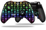 Skull and Crossbones Rainbow - Decal Style Skin fits Microsoft XBOX One ELITE Wireless Controller