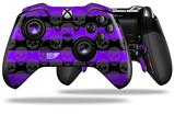 Skull Stripes Purple - Decal Style Skin fits Microsoft XBOX One ELITE Wireless Controller