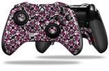 Splatter Girly Skull Pink - Decal Style Skin fits Microsoft XBOX One ELITE Wireless Controller
