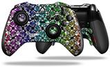 Splatter Girly Skull Rainbow - Decal Style Skin fits Microsoft XBOX One ELITE Wireless Controller