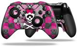 Princess Skull Heart Pink - Decal Style Skin fits Microsoft XBOX One ELITE Wireless Controller