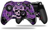 Purple Girly Skull - Decal Style Skin fits Microsoft XBOX One ELITE Wireless Controller