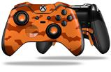 Deathrock Bats Orange - Decal Style Skin fits Microsoft XBOX One ELITE Wireless Controller
