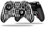 Skull And Crossbones Pattern Bw - Decal Style Skin fits Microsoft XBOX One ELITE Wireless Controller